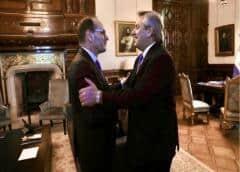Tras los dichos de Cristina Kirchner, Alberto Fernández se reunió con el embajador de Italia
