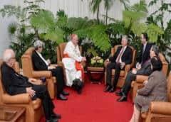 Díaz-Canel se reúne con el cardenal de Nueva York al final de su visita a Cuba