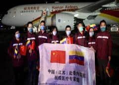 Expertos chinos llegan a Venezuela para ayudar a combatir el coronavirus