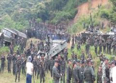 Militares venezolanos prueban su capacidad de reacción ante ataques armados