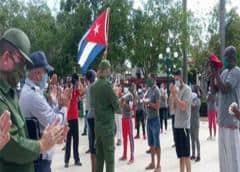¿Brigadas de respuesta rápida de la pandemia? Deportistas y cadetes, a cuidar colas en Cuba