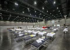 Ingenieros del ejército analizan posibles sitios de hospitales de campaña en Nevada