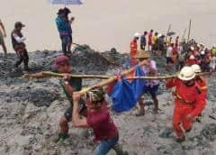 Colapso en mina de jade en Myanmar deja al menos 126 muertos