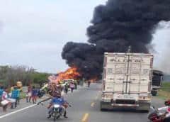 Muertos por el incendio del camión cisterna en Colombia asciende a 27