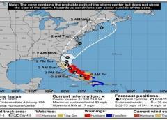 Isaías se fortalece a huracán categoría 1 en su avance hacia las Bahamas y Florida