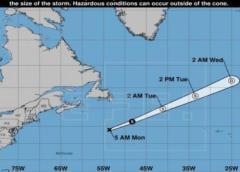 Se forma la tormenta tropical Edouard lejos de tierra y en el Atlántico norte