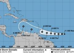 Tormenta Gonzalo que amenazaría a costas de Venezuela podría transformarse en huracán