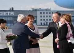 Pompeo llega a Praga para una gira centroeuropea de cinco días