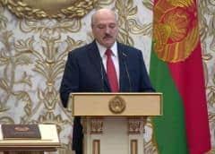 Lukashenko, investido en secreto en medio de las protestas en Bielorrusia