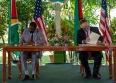 EEUU y Guyana desplegarán patrullas marítimas cerca de la frontera con Venezuela
