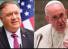 El Papa niega audiencia a Pompeo tras sus comentarios sobre acuerdo del Vaticano con China