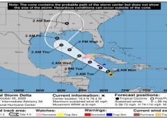Tormenta Delta se forma en el Caribe y Cuba está bajo alerta de huracán