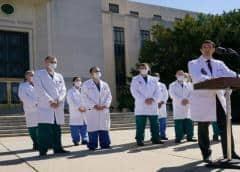 Administración Trump optimista que el presidente podría ser dado de alta del hospital