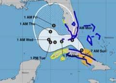 Eta toca tierra cubana con vientos de 60 millas por hora