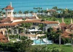Cientos de partidarios de Trump le dan la bienvenida en Florida por Navidad