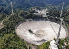 Se termina de derrumbar telescopio de Arecibo, Puerto Rico