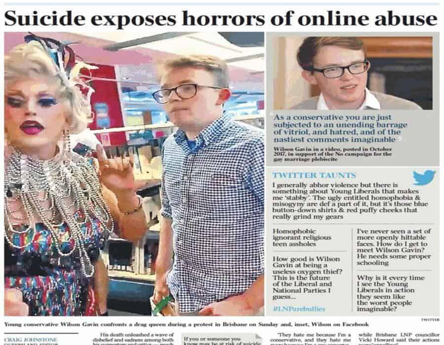 Un joven gay se suicida tras recibir miles de críticas en Twitter por quejarse de drag queens