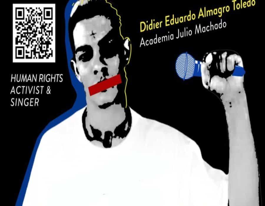 Didier Eduardo Almagro Toledo, el joven músico que la dictadura cubana quiere silenciar