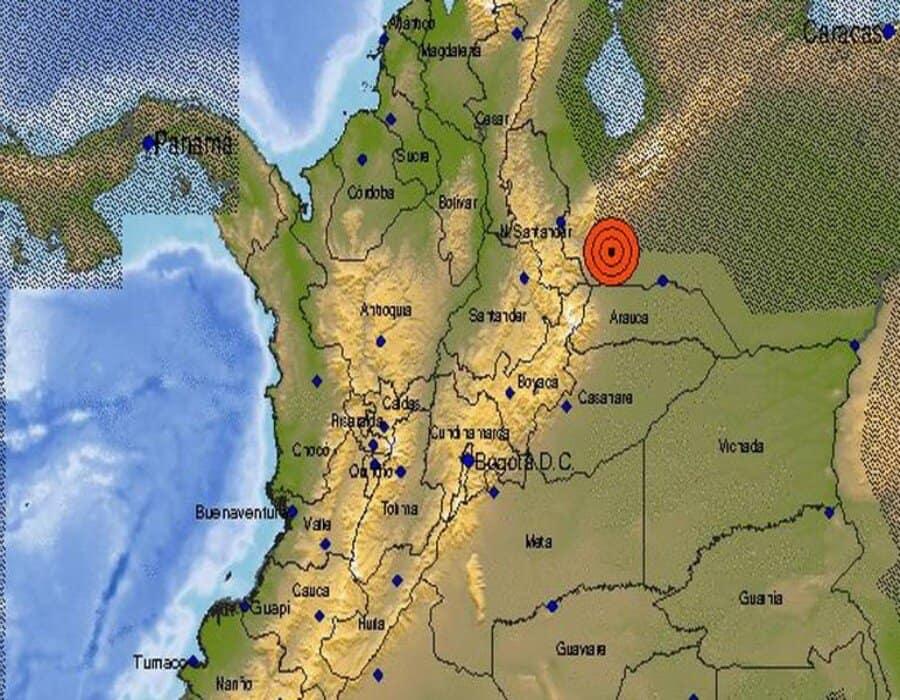 Un fuerte temblor, de magnitud 4.9, se registró en la noche del lunes en Colombia