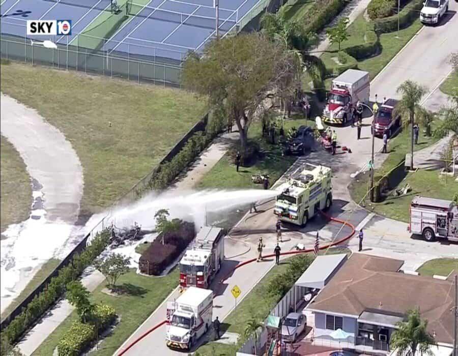 Se desploma avioneta en Florida; tres muertos