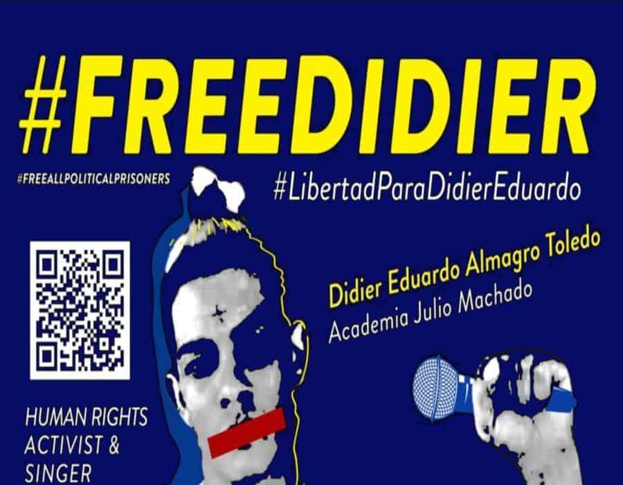 Preso político cubano Didier Almagro Toledo en huelga de hambre y sed