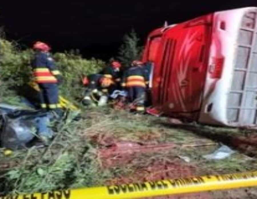 Ecuador: 8 muertos y 20 heridos tras brutal accidente de bus