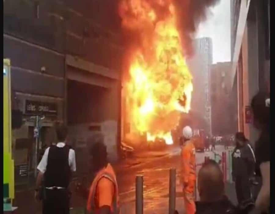 Explosión en una estación de tren de Londres
