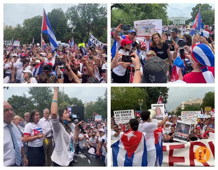 ¡Apoteósica manifestación en Washington contra el régimen cubano!