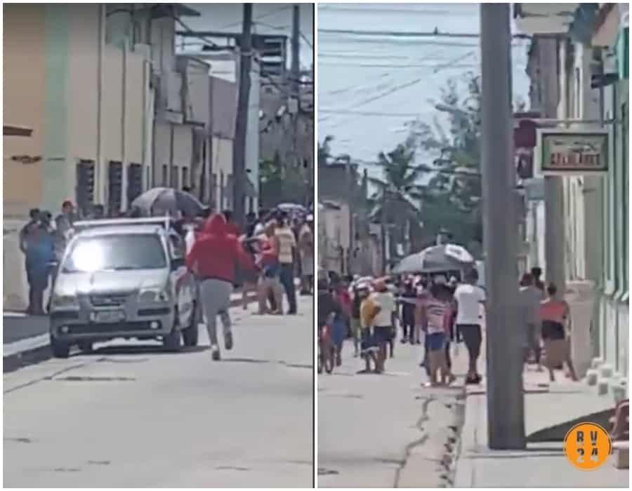 Régimen cubano lanza bomberos, perros y trabajadores de canal local de TV contra manifestantes pacíficos de Manzanillo