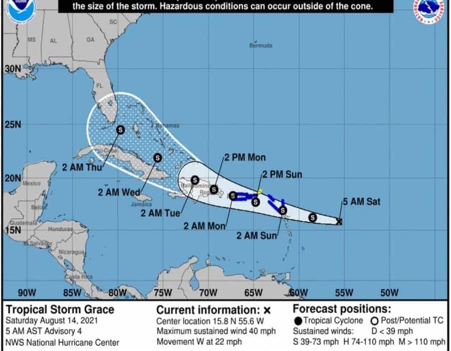 Se forma la tormenta tropical Grace; Fred mantiene estatus