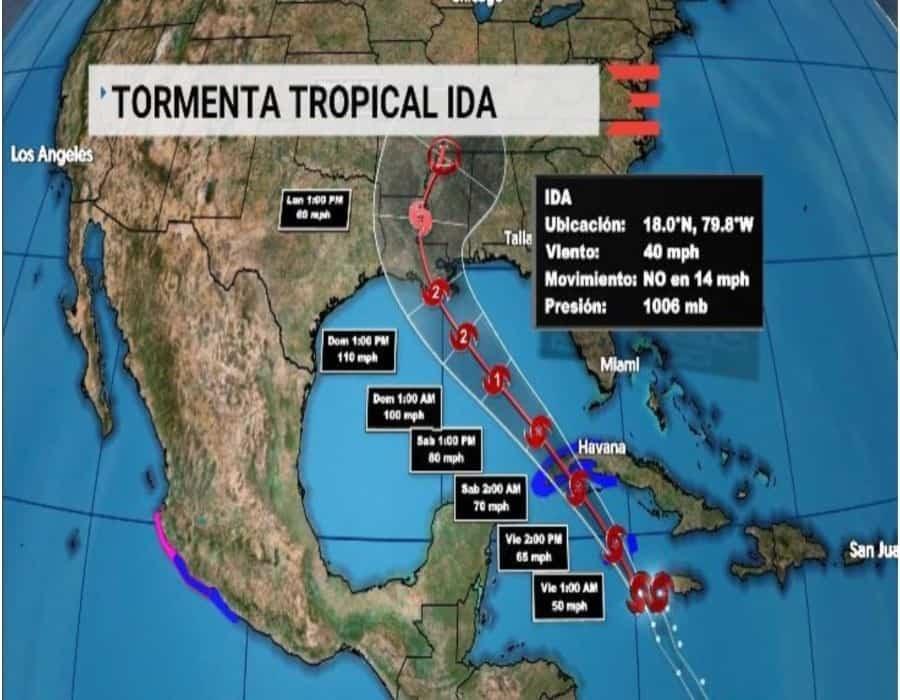 Cuba pone su región occidental en alarma ante la tormenta Ida