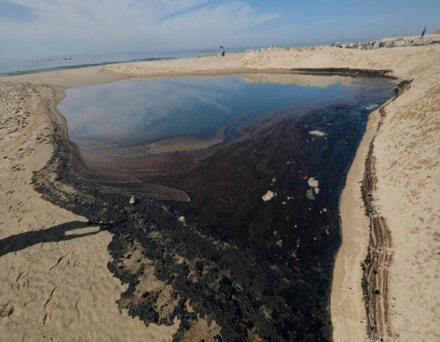 Un impacto ecológico significativo: derrame de más de 3,000 barriles de petróleo afecta la costa de California